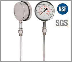 SP-H-32, oil radial industrial thermometer